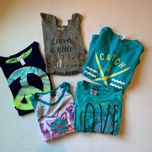Bundle of 5 shirts size 7/8. Old NavyDisneyJustice